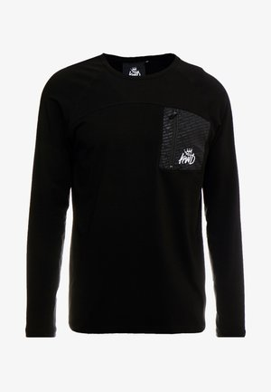 ALDON LONG SLEEVE - Long sleeved top - black