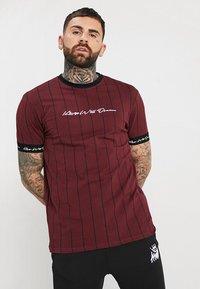 Kings Will Dream - CLIFTON - Print T-shirt - burgundy - 0