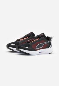 Puma - MINIMA  - Neutral running shoes - black/white/energy peach - 1