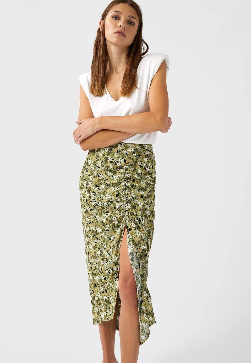 Stradivarius - Pencil skirt - light green
