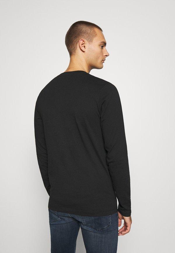 Calvin Klein Jeans ESSENTIAL INSTIT TEE UNISEX - Bluzka z długim rękawem - black/czarny Odzież Męska IDFJ