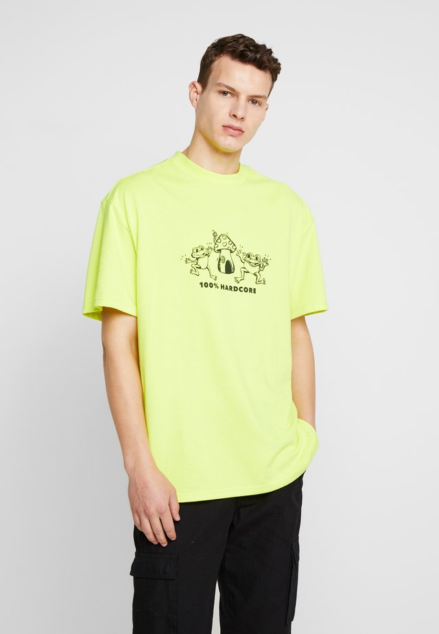 GREAT RAVE FROGS - T-shirt z nadrukiem - yellow