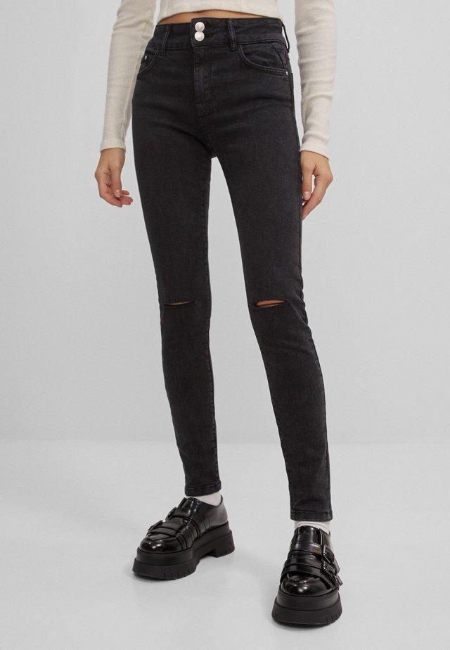 MIT RISSEN  - Skinny džíny - dark grey