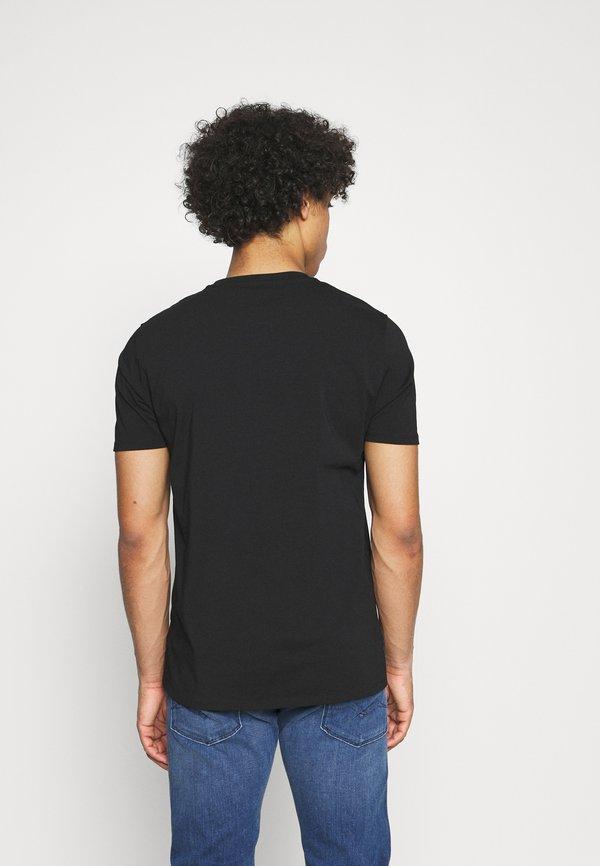 Alessandro Zavetti GROWLER TEE - T-shirt z nadrukiem - black/red/czarny Odzież Męska YMMO