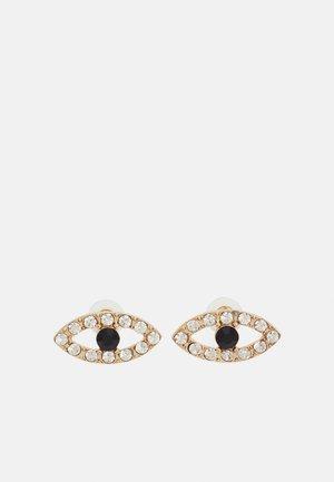 EYE - Earrings - gold-coloured/schwarz