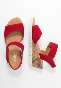 Gabor Comfort - Wedge sandals - rubin - 3