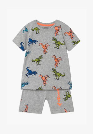 SMALL BOYS DINOSAURS SET - Tracksuit bottoms - nebel