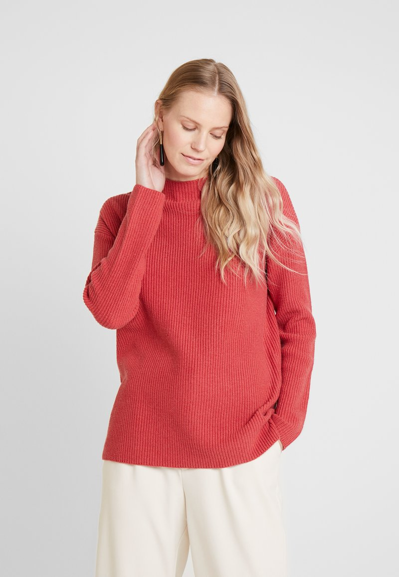 comma casual identity - LANGARM - Jersey de punto - burned rose