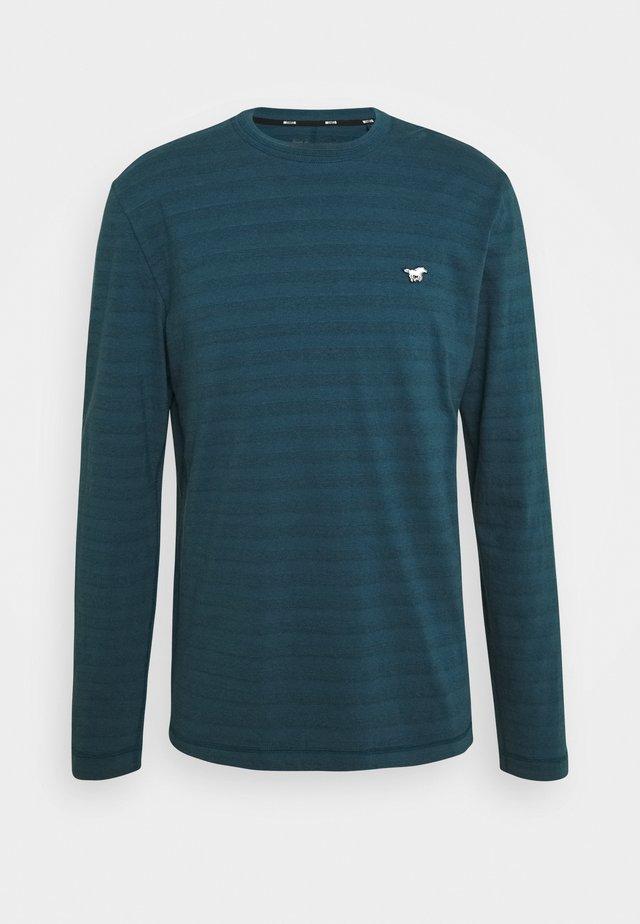 ADRIAN TEXTURE - Camiseta de manga larga - blue