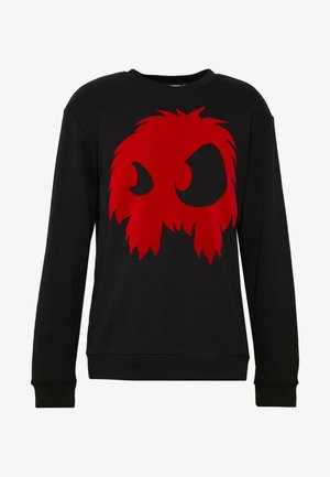 MONSTER  - Sweatshirt - darkest black/rouge