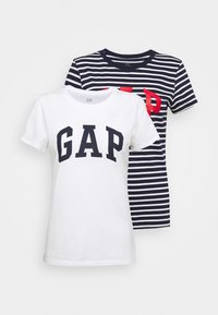 GAP - FRANCHISE TEE 2 PACK - Camiseta estampada - navy - 0