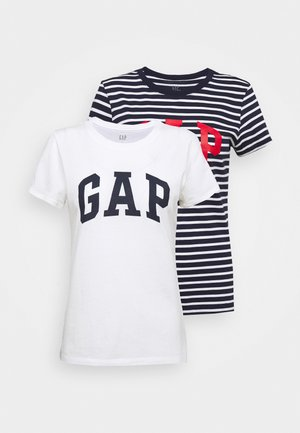 FRANCHISE TEE 2 PACK - T-shirt z nadrukiem - navy