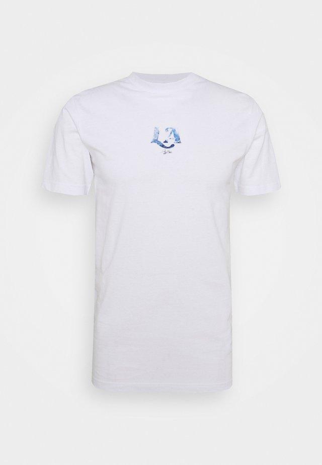 LA TEE UNISEX - T-shirt print - white