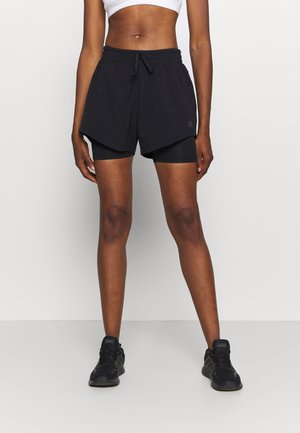 SHORT 2IN1 - kurze Sporthose - black