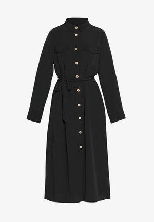 LIV UTILITY DRESS - Vestido camisero - black