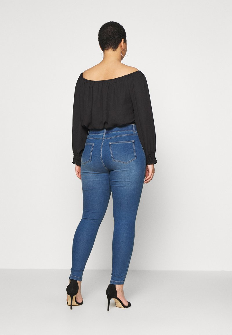 CAPSULE by Simply Be - AMBER SKINNY JEGGING - Jeggings - mid blue