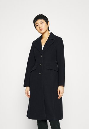 FIT AND FLARE MIDI COAT - Zimní kabát - navy