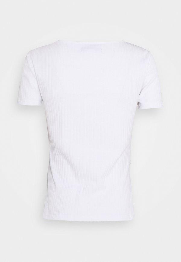 Anna Field T-shirt basic - white Kolor jednolity Odzież Damska ITBW UH 4