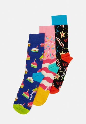 HAPPY BIRTHDAY CAKE SOCKS PLAYING GIFT SET 3 PACK - Chaussettes - multi