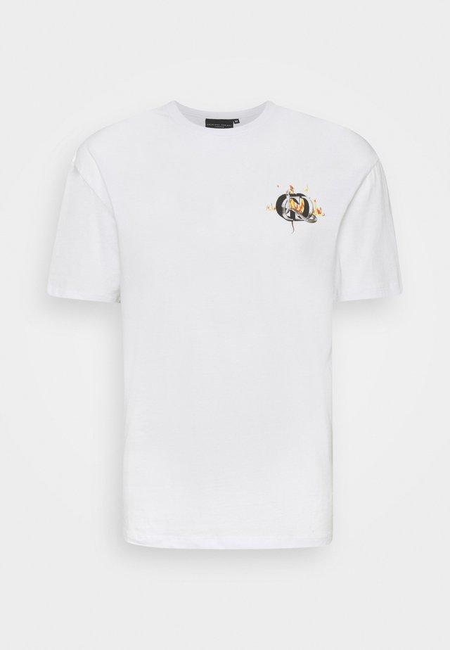 SNAKE LOGO TEE - T-shirt imprimé - white