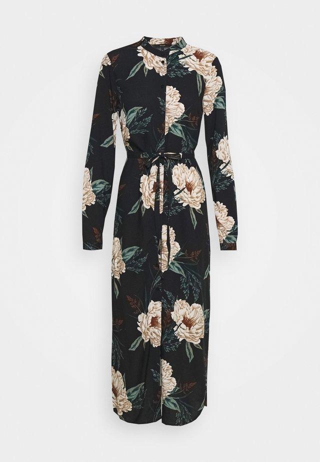 VMSIMPLY EASY LONG DRESS - Vestido camisero - black/multi coloured