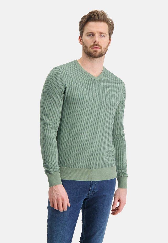 Trui - emerald green/grey blue