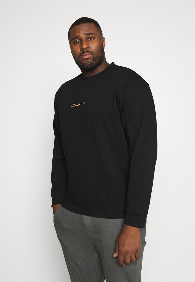 ESSENTIAL PLUS LS TSHIRT - Collegepaita - black