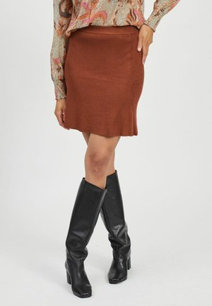 Mini skirt - tobacco brown