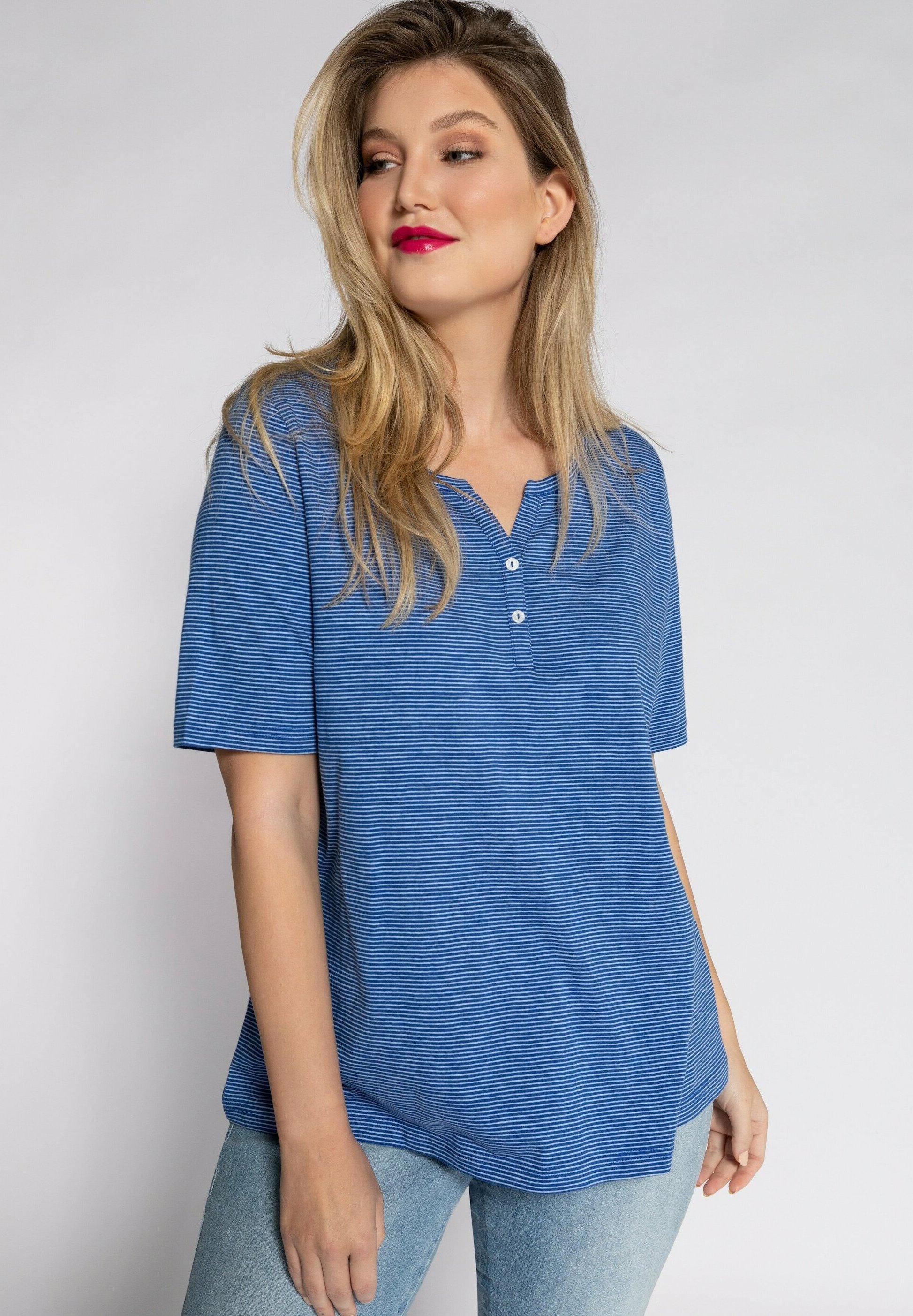 Femme STREIFEN TUNIKA-AUSSCHN - T-shirt imprimé