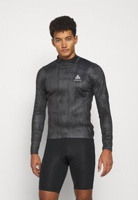 ODLO - MIDLAYER FULL ZIP ZEROWEIGHT CERAMIWARM - Sports shirt - graphite grey/black - 0