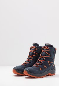 Lowa - JONAS GTX MID UNISEX - Winter boots - blau/orange - 3