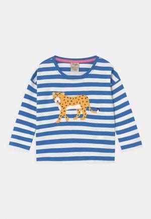 TORI LEOPARD STRIPE  - Long sleeved top - blue