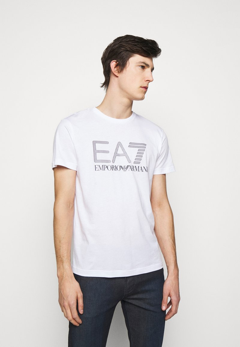 EA7 Emporio Armani - Print T-shirt - white/black