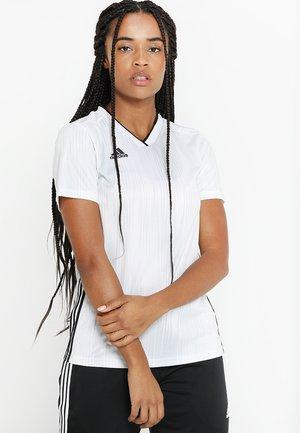 TIRO 19 JSY W - T-shirts med print - white/black