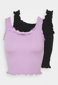 Even&Odd - 2 PACK - Top - black/lilac - 4