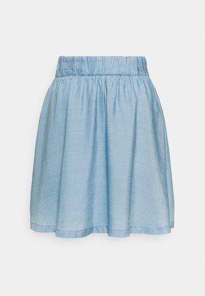 Denim skirt - light stone bright blue
