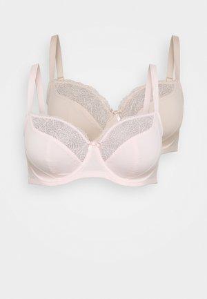 FAITH UNDERWIRE 2 PACK - Soutien-gorge à armatures - pink/nude