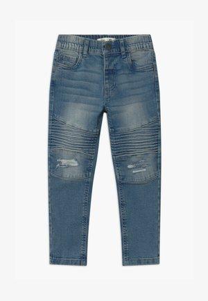 BIKER MOTO  - Džíny Slim Fit - alaskin mid blue wash