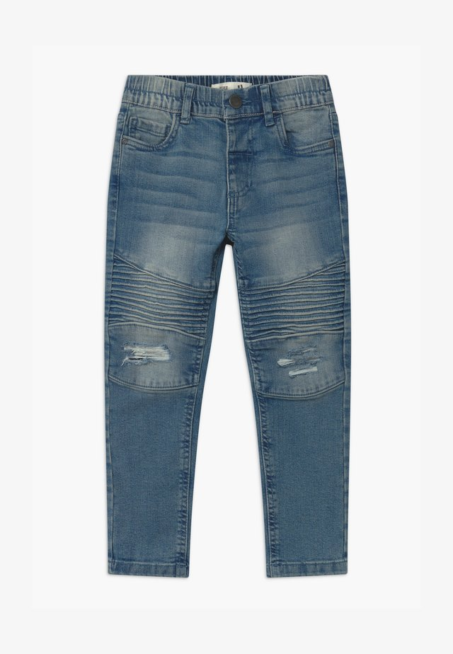 BIKER MOTO  - Jeans slim fit - alaskin mid blue wash