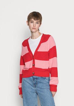 Cardigan - pink/red