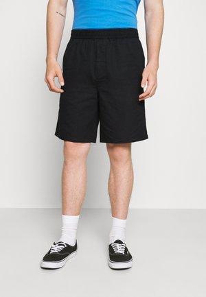LINEN SHORTS - Shortsit - black