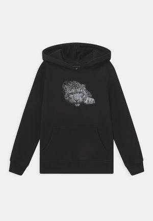 LEOPARD POSE HOODY UNISEX - Sweatshirt - black