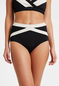 Seafolly - POPBLOCK HIGH WAISTED PANT - Bikinibroekje - black - 0