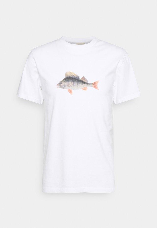 PERCH - T-shirt con stampa - white