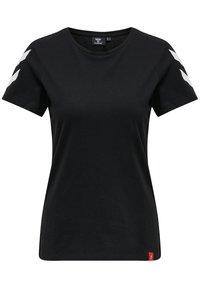 Hummel - 2 PACK - Print T-shirt - black/white - 1