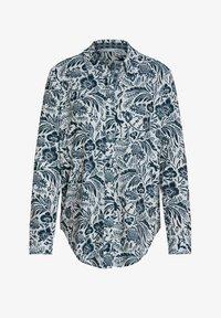 Oui - Button-down blouse - white blue - 4