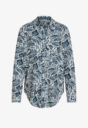 Button-down blouse - white blue