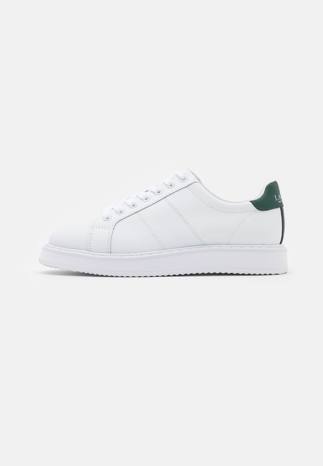 ANGELINE TOP LACE - Trainers - white/college green