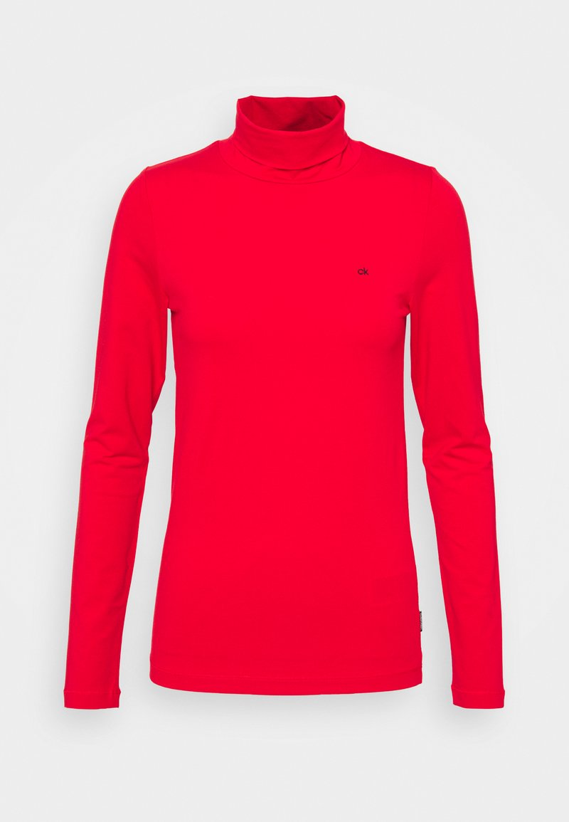 Calvin Klein - TURTLE NECK - Long sleeved top - red