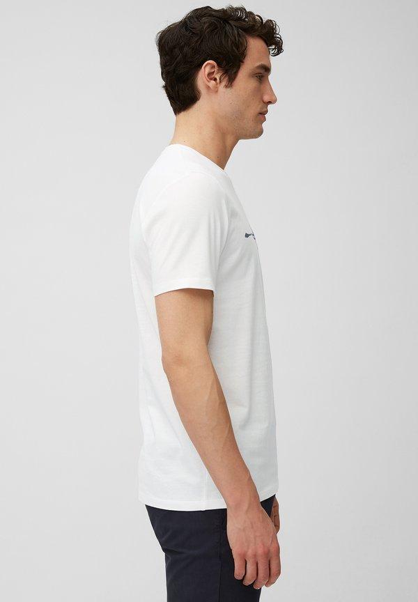Marc O'Polo T-shirt z nadrukiem - white/biały Odzież Męska PGLF
